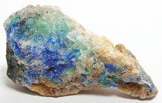 Rare Blue Mineral Linarite Specimen New Mexico by FenderMinerals