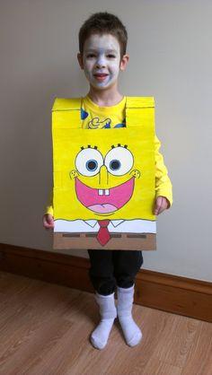 """It's Spongebob Squarepants!"" #fancymess #kids #craft #scotch"
