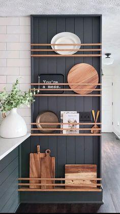 Home Design, Diy Home Decor, Room Decor, Slat Wall, Home Decor Inspiration, Kitchen Inspiration, Color Inspiration, Kitchen Ideas, Lounge