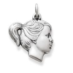 Girl's Profile Charm | James Avery