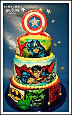 Super Hero Cake - Cake by Bethann Dubey