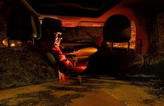 """Night Road""  A menudo sigo carreteras sin rumbo fijo buscando algún sitio oscuro... Autorretrato Iluminado con MAGLITE 3D F/5.6 389.3s ISO 200 Temp. 3700K P.C.- Vívido www.largaexposicion.com"