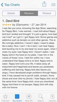 FLAPPY BIRD RUINS YOU....Step 21: Finally accept that Devil Bird is now a deep part of your very soul and he will never leave, no matter how often you try to escape.