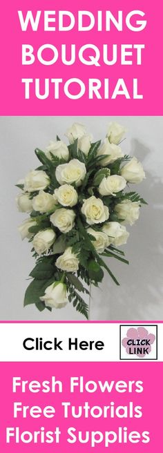 How to Make a Bridal Bouquet - Step by step instructions for a traditional rose cascade bouquet. See more tutorials for matching corsages, boutonnieres, centerpieces and church florals. Buy professional florist supplies.