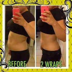 It Works Ultimate body wraps! Look at these results after 2 wraps! Get 40% off as a loyal customer http://bodycontouringwrapsonline.com/wholesale