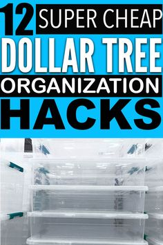 Easy and cheap dollar store organization hacks that you can use to organize your home with! You have to try these organization ideas. Dollar Tree Organization, Household Organization, Home Organization Hacks, Organizing Tips, Organising, Dollar Store Bins, Dollar Store Hacks, Dollar Store Crafts, Dollar Stores