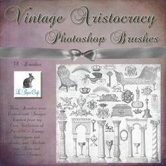 Vintage Royal Aristocracy 38 Piece Brush Set by Le Paper Cafe on Creative Market