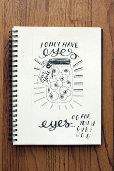 hand lettering sketchbook