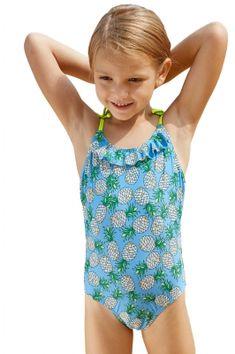 d42509c8725a5 Pineapple Print Little Girls One-piece Swimsuit