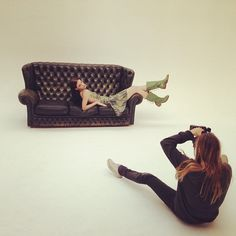 Behind the Scenes of the A+W'13 Photoshoot: Designer Alex Davis photographing our model | thecobrasociety.com