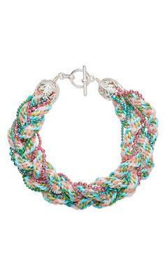 bracelet with kumihimo cord