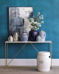 Ideas y consejos Home Room Design, Interior Design Studio, Grand Vase En Verre, Vase Deco, Vase Design, Small Space Design, Bohemian Interior, White Rooms, New Room