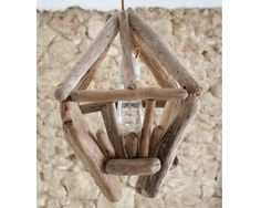 Driftwood lamp to hang