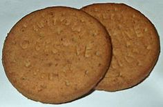 DIGESTIVE BISCUITS (Wheaten), sometimes referred to as a sweet-meal biscuit, is a semi-sweet biscuit originated in the United Kingdom and popular worldwide. The term 'digestive' is derived from the belief that they had antacid properties due to the use of sodium bicarbonate when they were first developed. Some producers used diastatic malt extract to 'digest' some of the starch that existed in flour prior to baking. Wheat Flour Sugar Malt Extract Oil Wholemeal Raising Agents