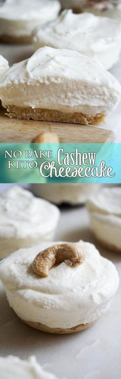 No Bake Cashew Cheesecake - KETO! Easy and delicious cashew crust topped with creamy cheesecake.