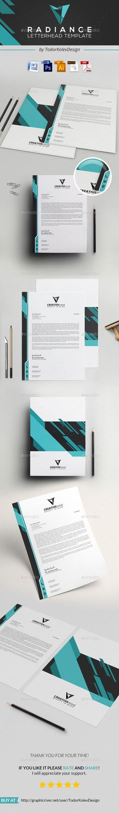 Radiance Letterhead  — PSD Template #a4 #professional • Download ➝ https://graphicriver.net/item/radiance-letterhead/18293932?ref=pxcr