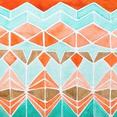 Beautiful, bold, and fun watercolor works by Serena Olivier (image via Serena Olivieri) candle help? Watercolor Images, Watercolor Pattern, Watercolour, Painting Inspiration, Screen Printing, Artsy, Quilts, Drawings, Artwork