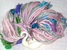 Handspun Art Yarn  / Summer Flowers by Fiber Artist by Dreamfiber