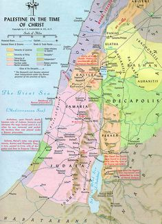 Regions, Galilee, Judea, Samaria, time of Christ