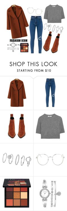 """""""Fashion Icon"""" by agcotton ❤ liked on Polyvore featuring Valentino, Topshop, Huda Beauty and Anne Klein"""