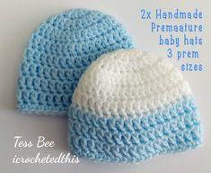 Premature Baby Hats 2 NICU Hats Twin Hats Tiny Baby | Etsy My Newborn Baby, Preemie Babies, Premature Baby, Baby Boy Beanies, Baby Girl Hats, How To Have Twins, Nicu, Handmade Baby, Baby Knitting