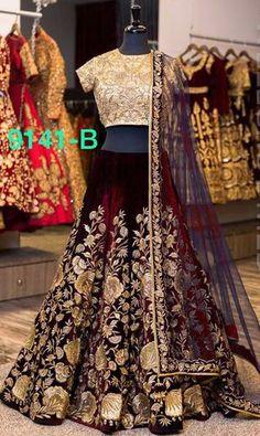 Wedding Designer Velvet Lehenga