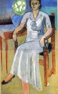 "artist-matisse: "" Woman with a White Dress by Henri Matisse Size: 113x73 cm"""
