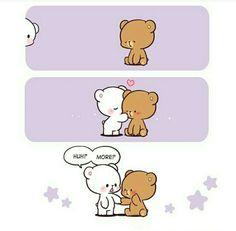 Cute Cartoon Images, Cute Love Cartoons, Cartoon Pics, Cute Cartoon Wallpapers, Cute Images, Funny Cartoons, Cartoon Bear, Gif Mignon, Hug Gif