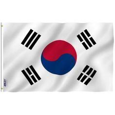 Love your country and display it proudly with ANLEY Fly Breeze Polyester South Korea Flag Flags Banner with Brass Grommets and Canvas Header. South Korea Flag, Egypt Flag, Korean Flag, Foto Jungkook, Evergreen Flags, Photoshop, Flags Of The World, House Flags, Backdrops