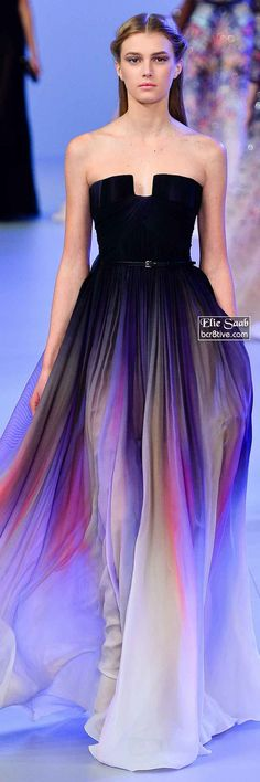 View all the catwalk photos of the Elie Saab haute couture spring 2014 showing at Paris fashion week. Read the article to see the full gallery. Elie Saab Couture, Vestidos Elie Saab, Elie Saab Dresses, Fashion Week Paris, Runway Fashion, Fashion Show, Fashion Check, Fashion Trends, Style Couture