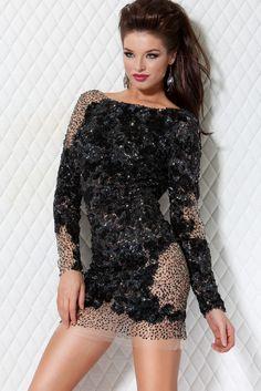 sexy beaded little black dress - Jovani 9448