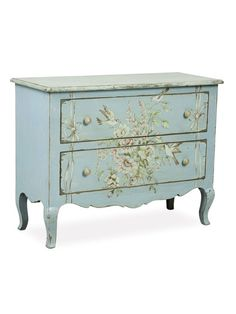 Fiona 2-Drawer Floral Chest by nuLOOM at Gilt