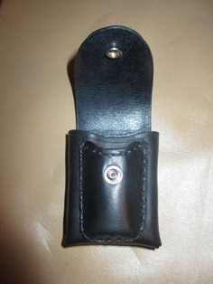 Leather Cigarette Case with Bic Lighter Pocket from quabbin.com