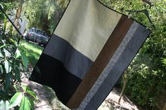 nice masculine quilt or quilt back
