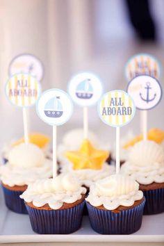 Nautical Birthday {Boy Party Ideas} - Spaceships and Laser Beams Leo Birthday, Boy First Birthday, Boy Birthday Parties, Birthday Ideas, Happy Birthday, Nautical Cake Pops, Nautical Party, Dessert Table, First Birthdays