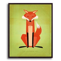 10.5 in. The Crooked Fox by John W. Golden Framed Print | Shop at the Foundary