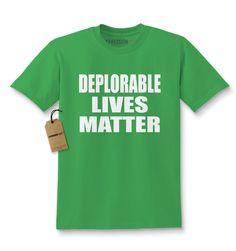 Deplorable Lives Matter Funny Political Sarcasm Kids T-shirt