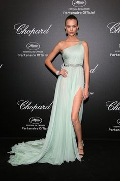 Josephine Skriver in Georges Hobeika Couture at the 2018 Cannes Film Festival