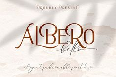 Alberobello // Fashionable Font Duo by Haksen on @creativemarket