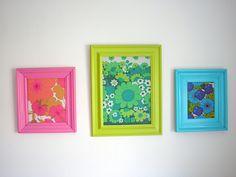 Framed in 70´s fabrics | Flickr - Photo Sharing!