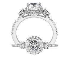 Bella Vita three stone diamond engagement ring | Ritani Collection | Rogers Jewelry Co.