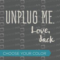 Unplug Me Love Jack Decal // kitchen appliance slow cooker