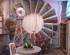 vintage windmill wheel