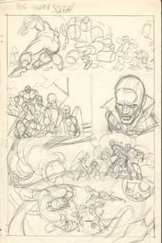 Gil Kane - Defenders Giant Size #2 pg 27 layouts, in Jon Cresswell's Gil Kane - Defenders Giant Size #2 layouts Comic Art Gallery Room