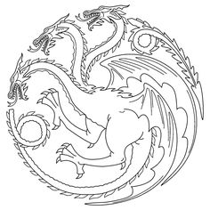 game of thrones colouring in page tagaryen - Colouring In Game