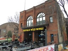 Buffalo Wild Wings is in an old Fire Station