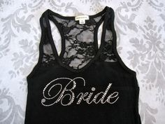 Bridesmaid Tank Top Shirt. Half Lace. Maid by TheLittleBridalShop