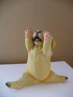 Golden Lab Dog Doing Yoga. Dog Doing YogaGarden StatuesLabs