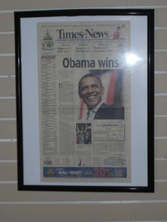 When Obama won the 2008 election.