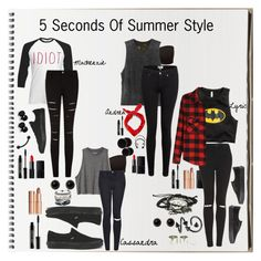 """""""5 Seconds Of Summer Style: Female Version"""" by poppunk-serious-princess ❤ liked on Polyvore featuring Converse, Lord & Berry, NARS Cosmetics, RVCA, Paige Denim, Zara, Pieces, Topshop, Adele Marie and Domo Beads"""